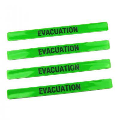 Brassard reflechissant auto enroulant evacuation 1