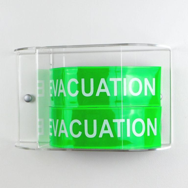 Pack brassards velcro evacuation 2